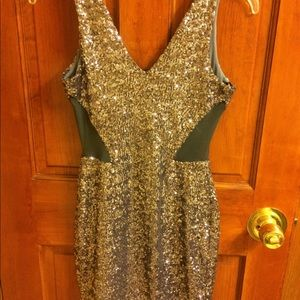 Bebe sequin mini dress